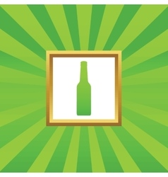 Bottle picture icon vector