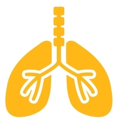 Breathe system icon vector