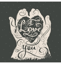 I love you romantic inspiration quote vector