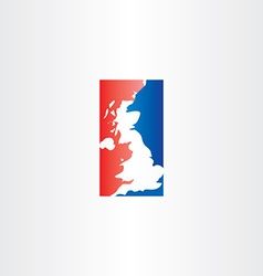 united kingdom logo icon map vector image