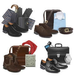 Male fashion accessories vector
