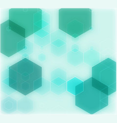 abstract geometrical green background vector image