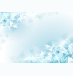 Abstract soft blue polygon and molecular vector