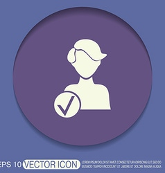 add friend avatar vector image
