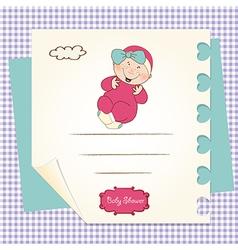 Baby girl shower announcement vector