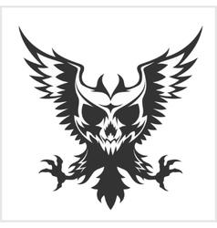 Black eagle and skull vector