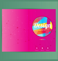 brochure design template geometric shapes vector image vector image