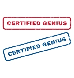 Certified genius rubber stamps vector