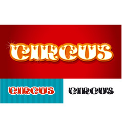 Circus word title vector