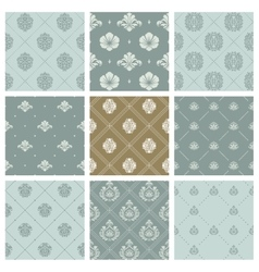 Damask wallpaper or orient victorian background vector