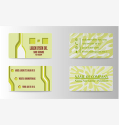 Elegant template business card vector