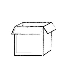 figure square box package open design vector image
