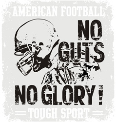 Football Guts vector image