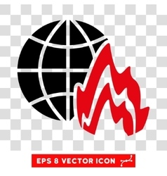 Global fire eps icon vector