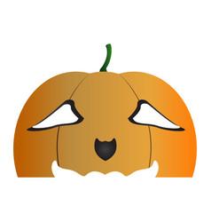 halloween pumpkin mask vector image