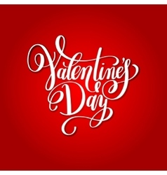 happy valentines day handwritten red lettering vector image vector image