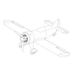 Isolated propeller plane drawing vector