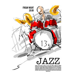 Jazz music party invitation design vector