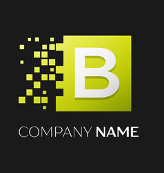 letter b logo symbol in the colorful square vector image vector image