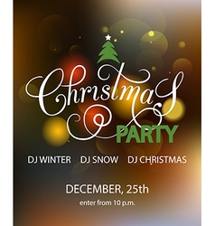 Lettering for Christmas Party invitation card vector image vector image