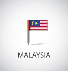Malaysia flag pin vector