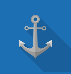 Metal anchor icon vector