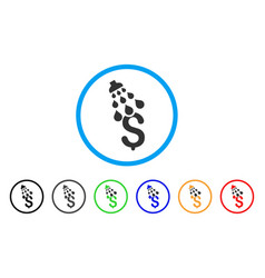 Money shower rounded icon vector