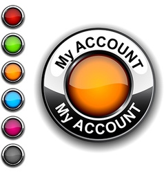 My account button vector image vector image