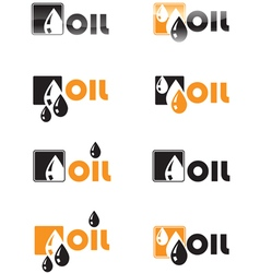 Oil drop logo vector image vector image