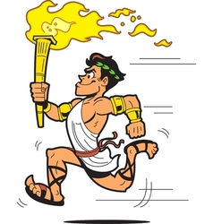 Olympic Torch Bearer vector image vector image