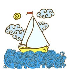 Sailfish on the waves vector