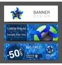 set of horizontal banners for your business ad to vector image vector image
