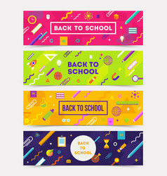 Set of horizontal colorful abstract banners vector
