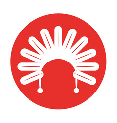 Native american feather hat vector