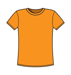 Blank yellow t-shirt template vector