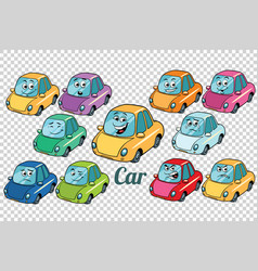 Car vehicle automobile collection set neutral vector