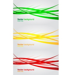 Set of wavy banners abstract background vector