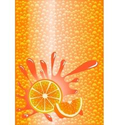 Orange lemonade vector image