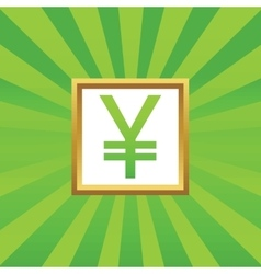 Yen picture icon vector