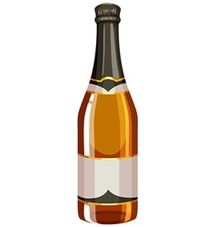Bottle of champagne with sealed cap vector