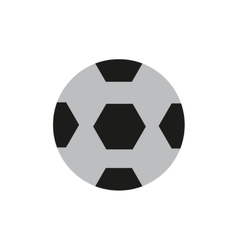 Flat icon on white background soccer ball vector