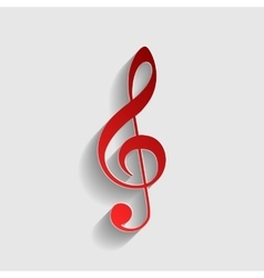 Music violin clef sign vector