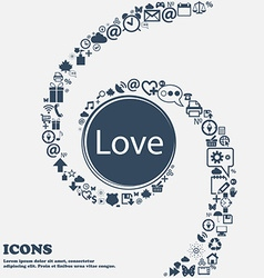 Love you sign icon valentines day symbol in the vector
