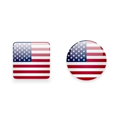 Icons with american flag vector