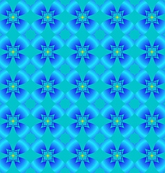 Abstract pattern of blue flowers vector image