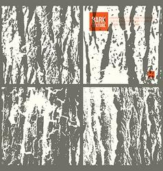 Bark tree texture set vector