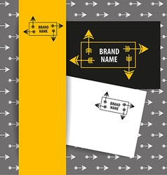 Brand name arrow vector
