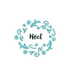 Christmas card on white background with blue vector