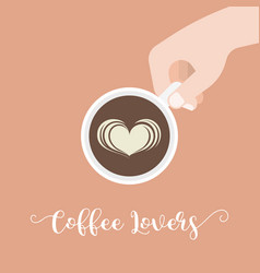 Coffee lover hand lettering caligraphic vector