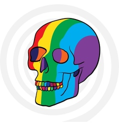 color skull vector image vector image
